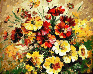 24 Framed and unframed Flowers Paintings