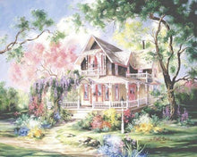 Load image into Gallery viewer, Paint a Beautiful Fairyland House Yourself with Paint by Numbers