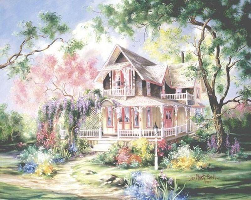 Paint a Beautiful Fairyland House Yourself with Paint by Numbers
