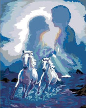 Load image into Gallery viewer, Artistic Painting of a Couple and Horses