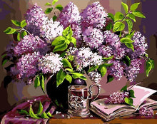 Load image into Gallery viewer, purple flowers paint by numbers