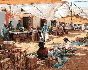 rural life painting by numbers