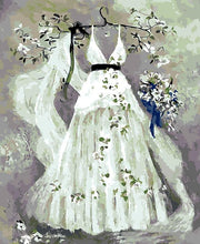 Load image into Gallery viewer, Wedding Dress Painting