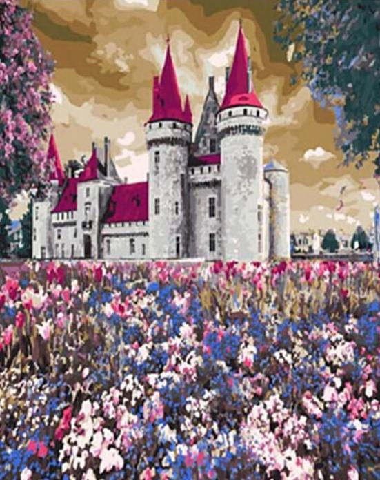 Castle Surrounded by Flowers