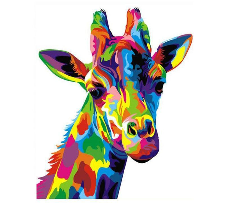 Colorful Giraffe Painting