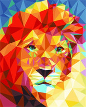 Load image into Gallery viewer, Lion Polygon Art