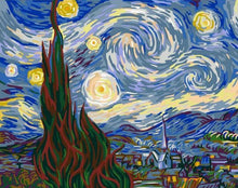 Load image into Gallery viewer, starry sky paint by numbers