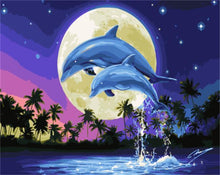 Load image into Gallery viewer, Dolphins Paint by Number Kit