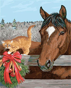 Friendship of Horse & a Cat