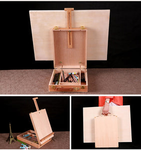 [SHIPS FROM USA] Wooden Easel with Storage