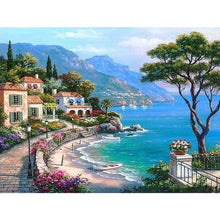 Load image into Gallery viewer, Town by the Lake & Boats