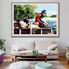 Load image into Gallery viewer, Fishing with Dogs