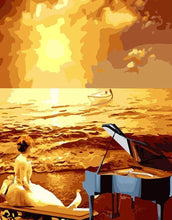 Load image into Gallery viewer, Girl with Piano at the Beach
