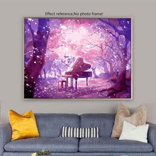 Load image into Gallery viewer, Piano Table in Purple Forest