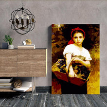 Load image into Gallery viewer, A Girl with A Basket