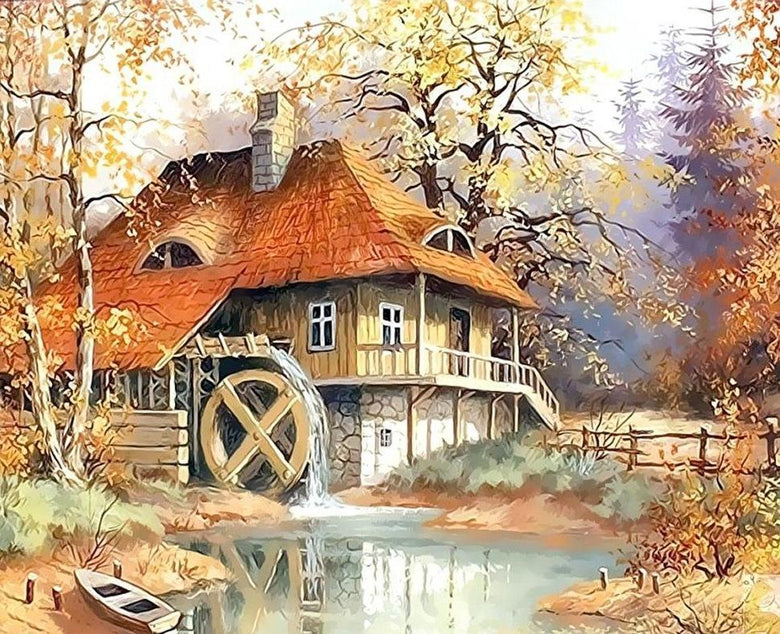 Watermill By the Lake