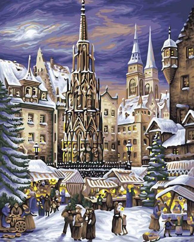 New York Christmas Painting