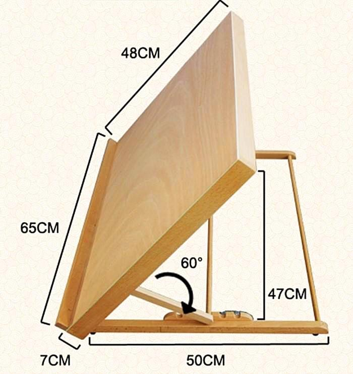 Wooden Tabletop Art Easel [SHIPS FROM USA]