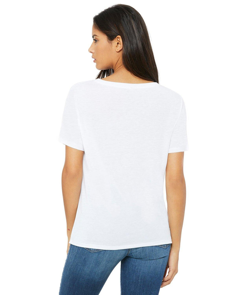 Ladies Slouchy V-Neck Tee Shirt - Bella + Canvas