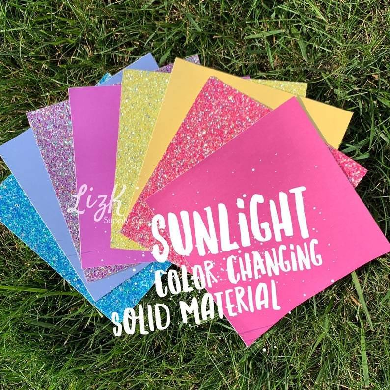 Sunlight Color Changing Material