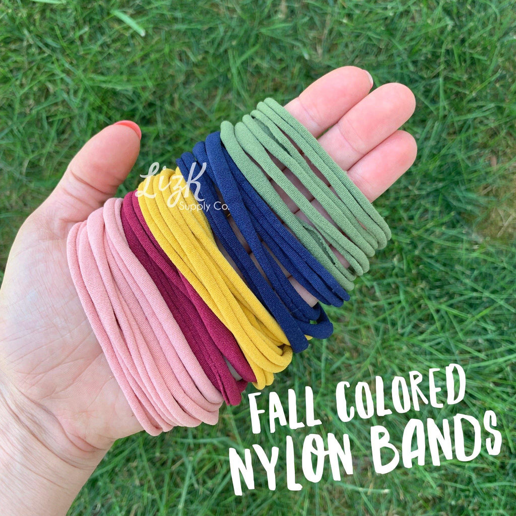 Nylon Headbands - Fall Colors