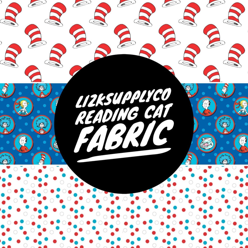 Reading Cat Collection Fabric - LizKSupplyCo