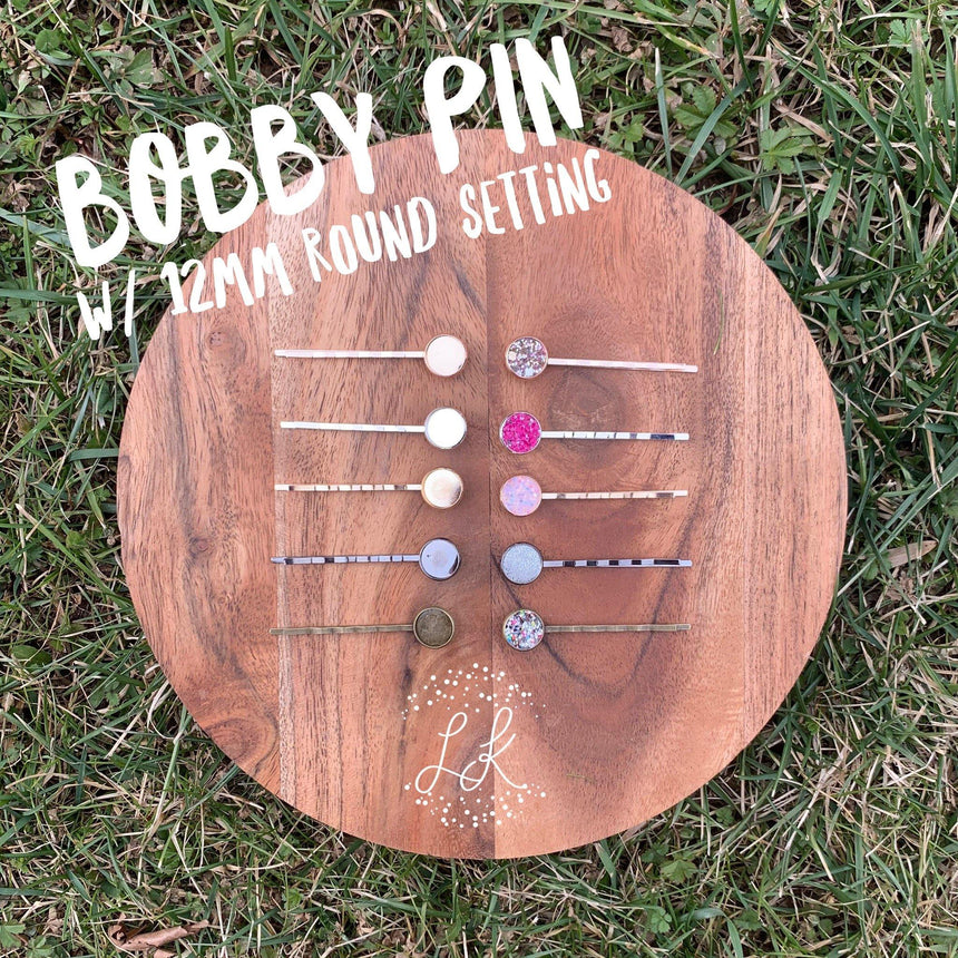 Bobby Pin w/ 12MM Round Settings - LizKSupplyCo
