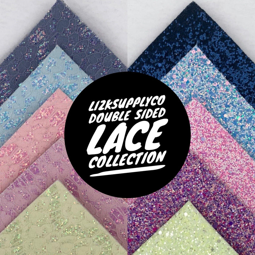 Double Sided Glitter and Lace Collection - LizKSupplyCo
