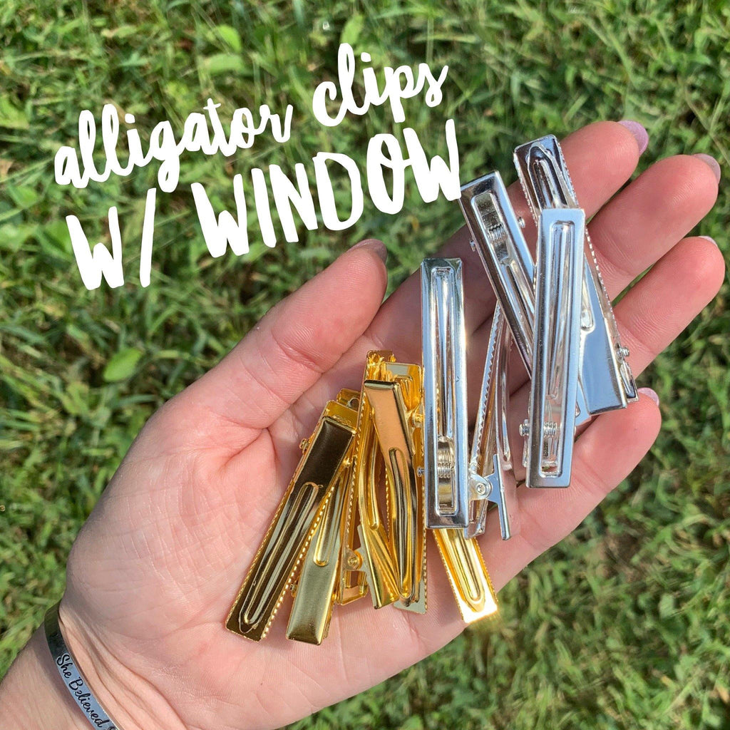 Alligator Clips w/Window
