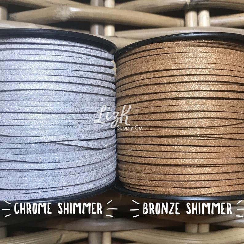 Suede Leather Cord - 10 yards - LizKSupplyCo