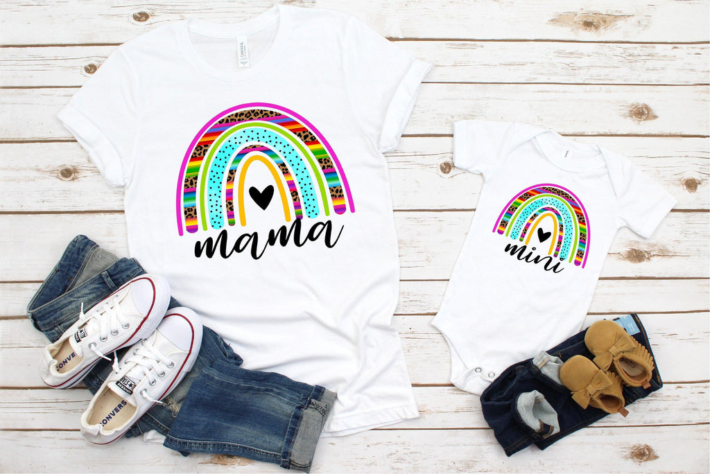 Cheetah Serape Mama & Mini Me Rainbow