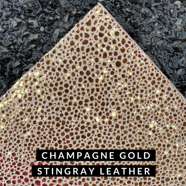 Stingray- Champagne Gold Leather - LizKSupplyCo