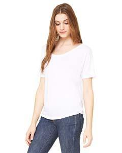 Ladies Slouchy Tee Shirt - Bella + Canvas