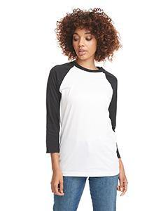 Unisex 3/4 Length Sleeve Baseball Raglan Tee Shirt - Next Level