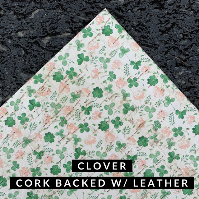 Leather Backed Cork- Clover Cork
