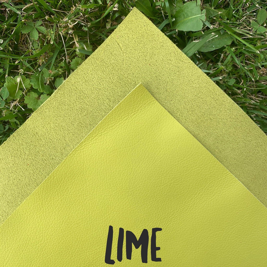 Genuine Leather- Lime