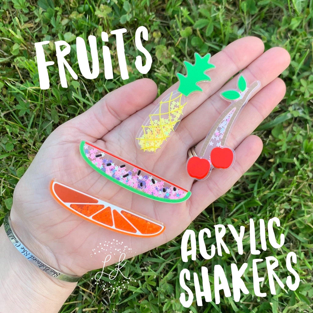 Skinny Fruit Acrylic Shakers
