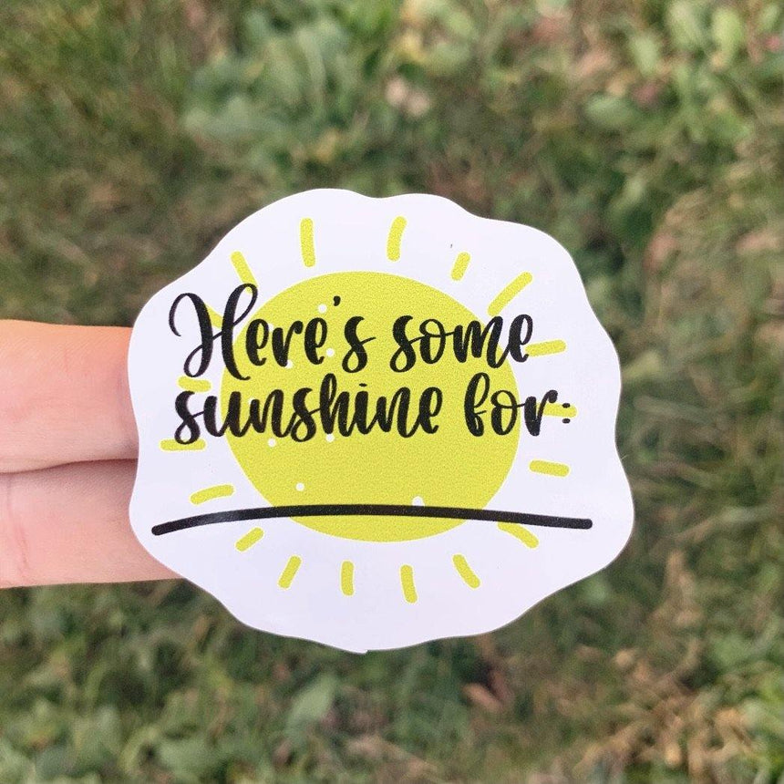 Sunshine Pickup Sticker - LizKSupplyCo