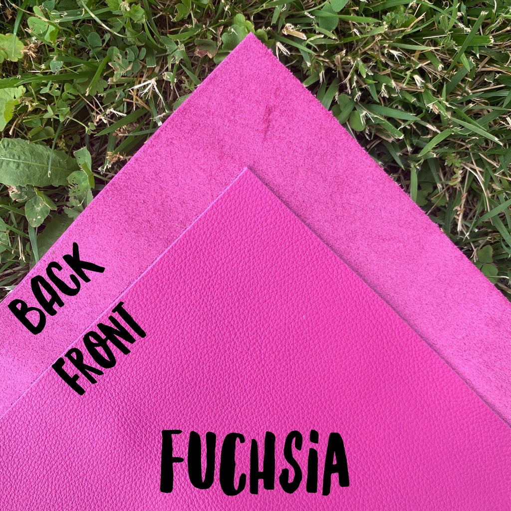 Genuine Leather- Fuschia