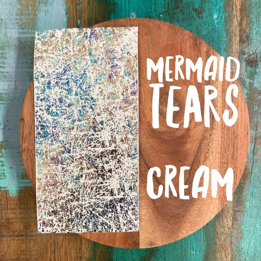 Mermaid Tears- Cream Leather - LizKSupplyCo