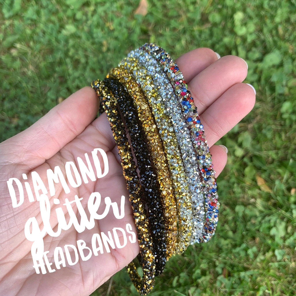 Diamond Chunky Glitter Headbands
