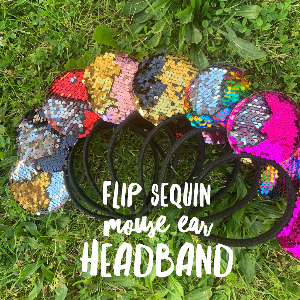 Flip Sequin Mouse Ear Headbands
