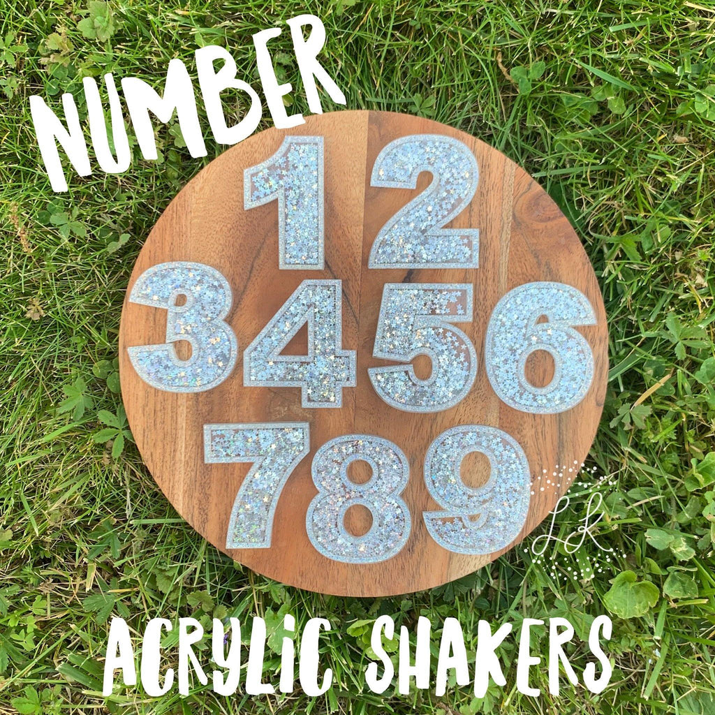 Acrylic Number Shakers