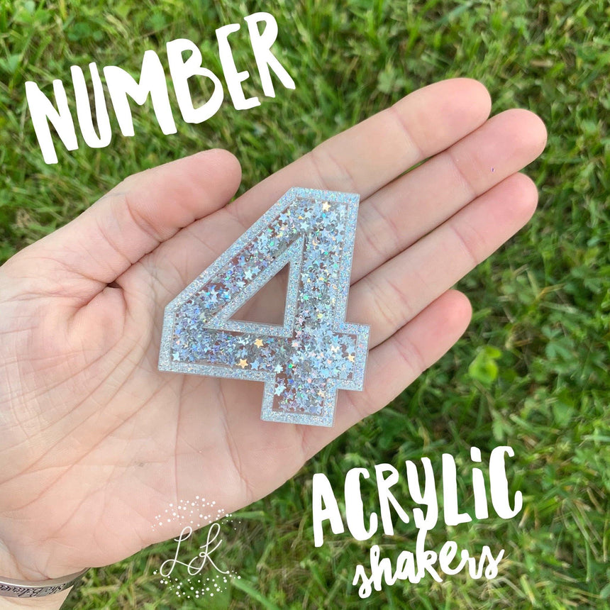Acrylic Number Shakers - LizKSupplyCo