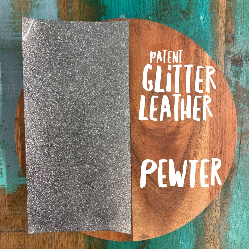 Smooth Patent Glitter- Leather - LizKSupplyCo