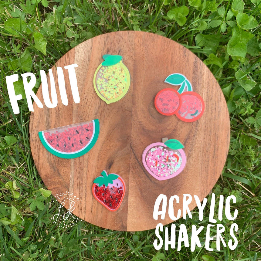 Fruit Acrylic Shakers - LizKSupplyCo