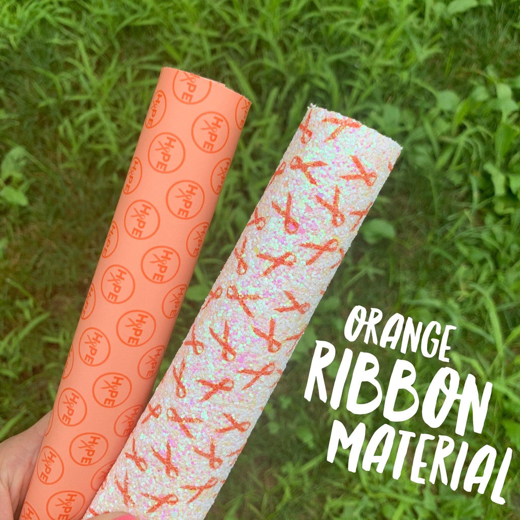 Orange Ribbon Material