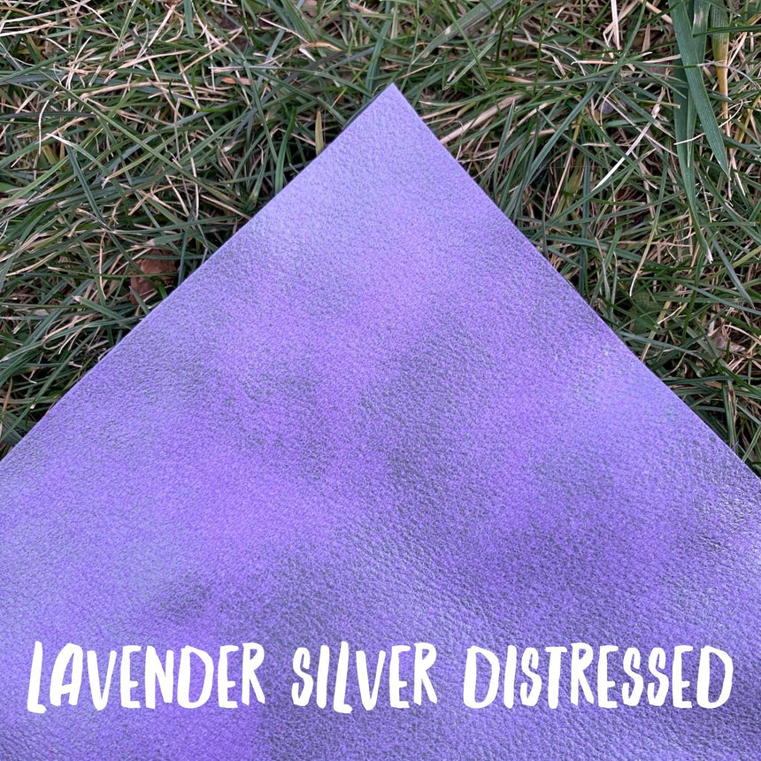 Distressed- Lavender & Silver Leather - LizKSupplyCo