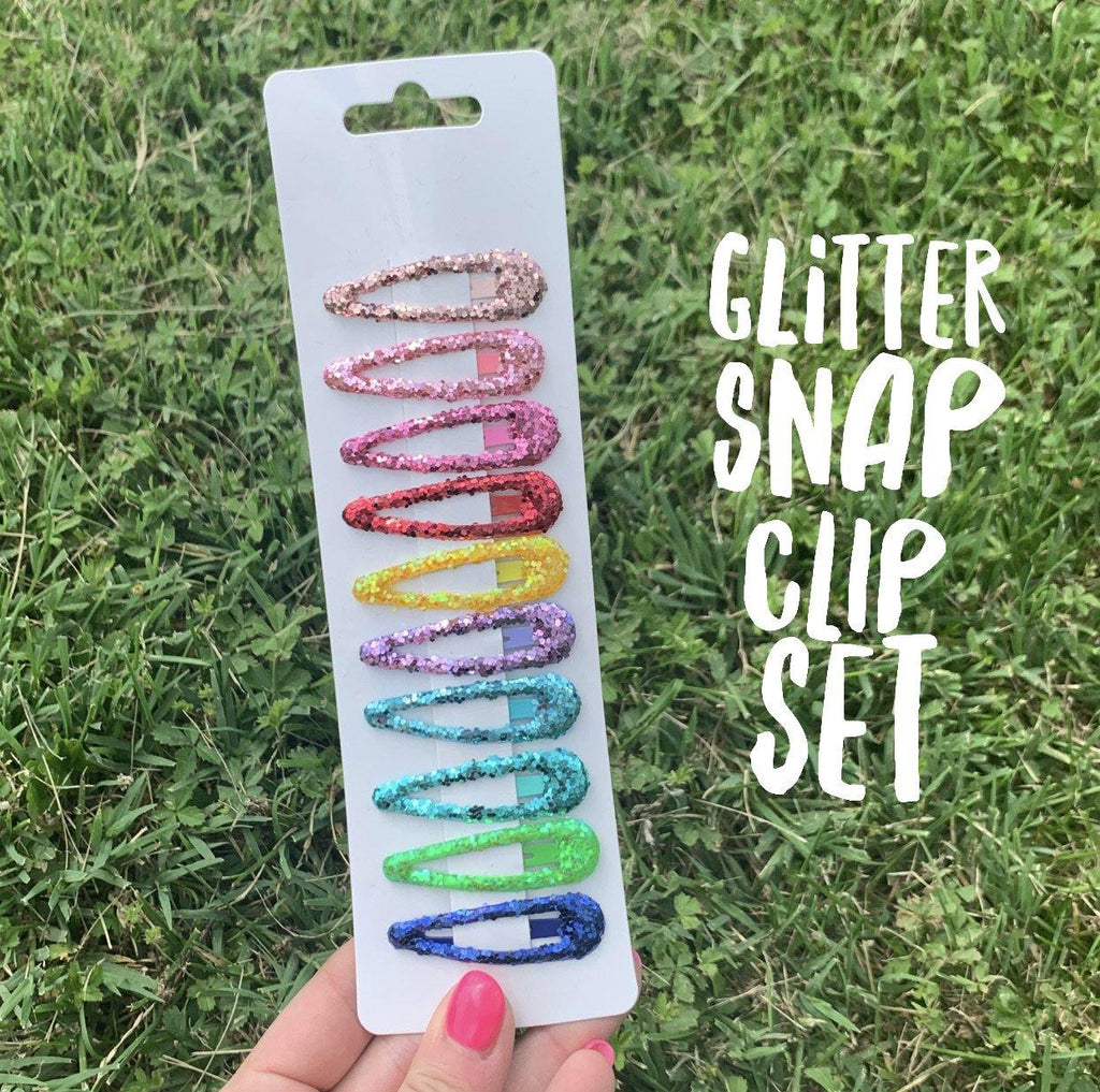 Chunky Glitter Snap Clips