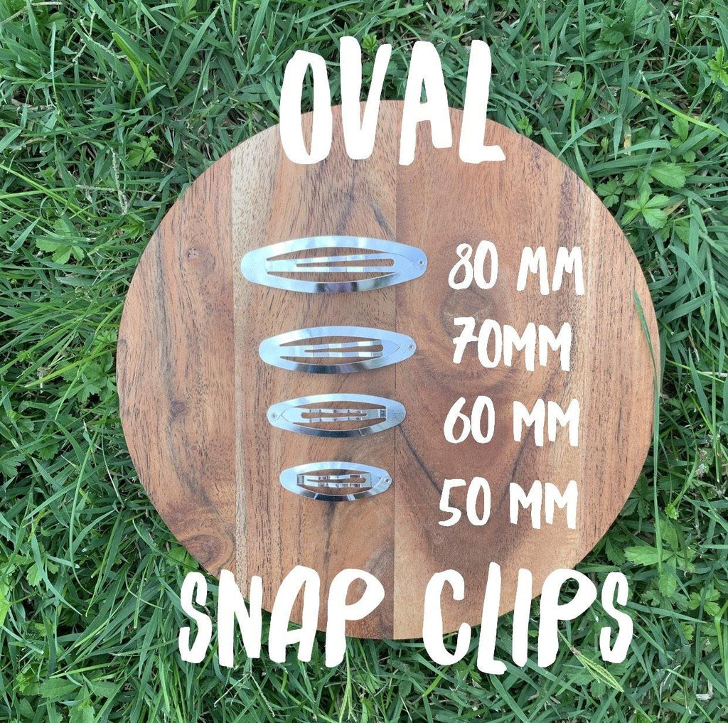 Oval Metal Snap Clip